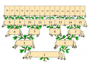 Pedigree with numbering